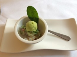 Ceviche of Bream with wasabi sorbet