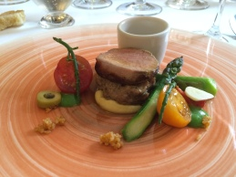 Welsh lamb with Isle of Wight tomatoes and asparagus