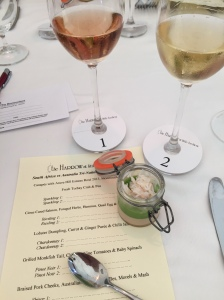 Sparkling wine with Torbay crab and pea