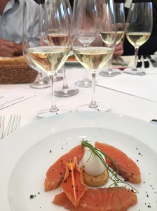 Riesling with Citrus cured Salmon