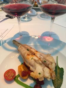 Pinot Noir with Monkfish,Chorizo, Tomatoes and Spinach
